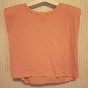 Muscle Tank Small Womens Peach Padded Shoulder